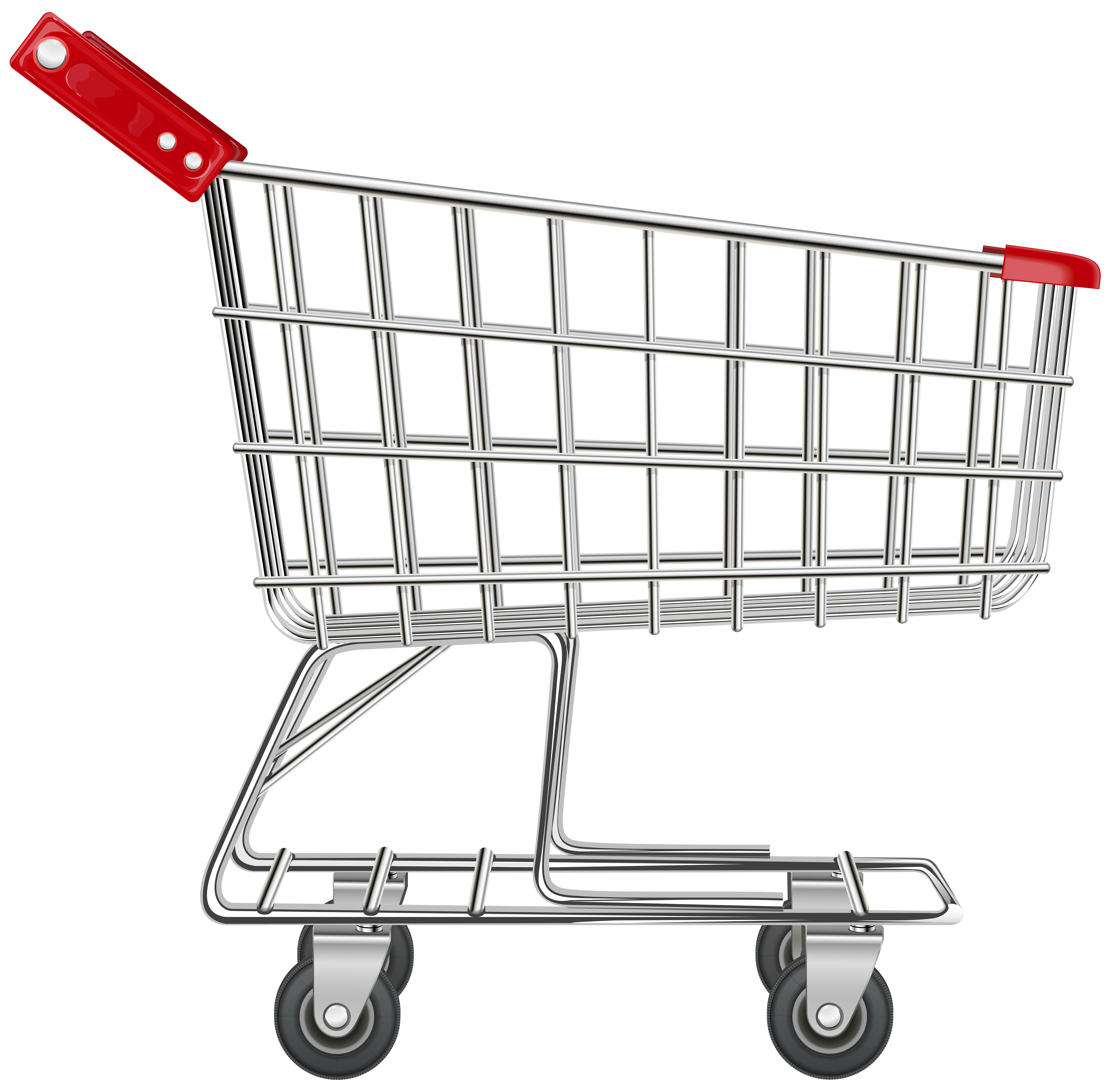 Shopping Cart Transparent PNG Clip Art Image.