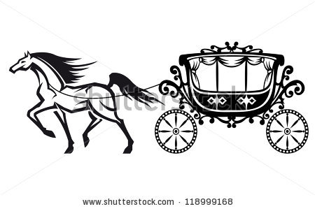 Wedding Horse And Carriage Stock Photos, Royalty.