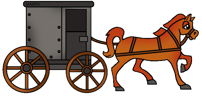 Horse and cart clipart.