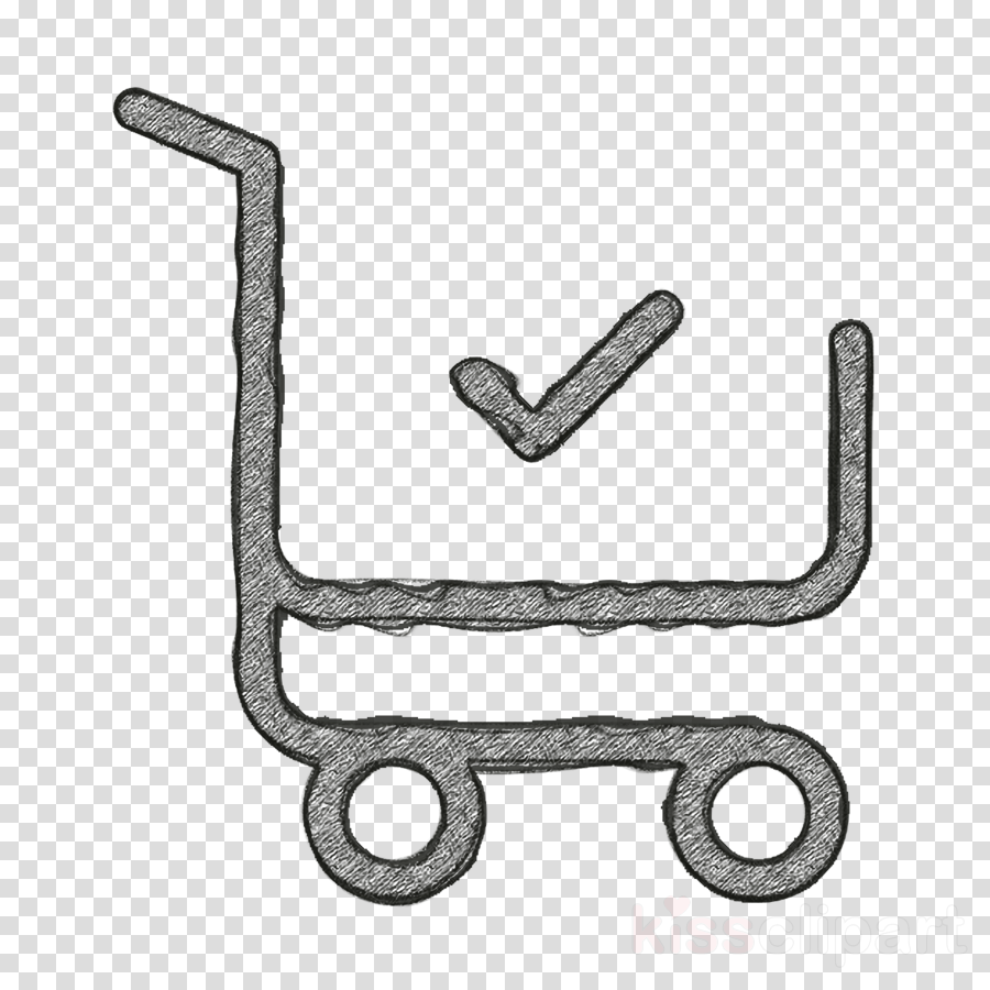 Shopping cart icon Supermarket icon commerce icon clipart.