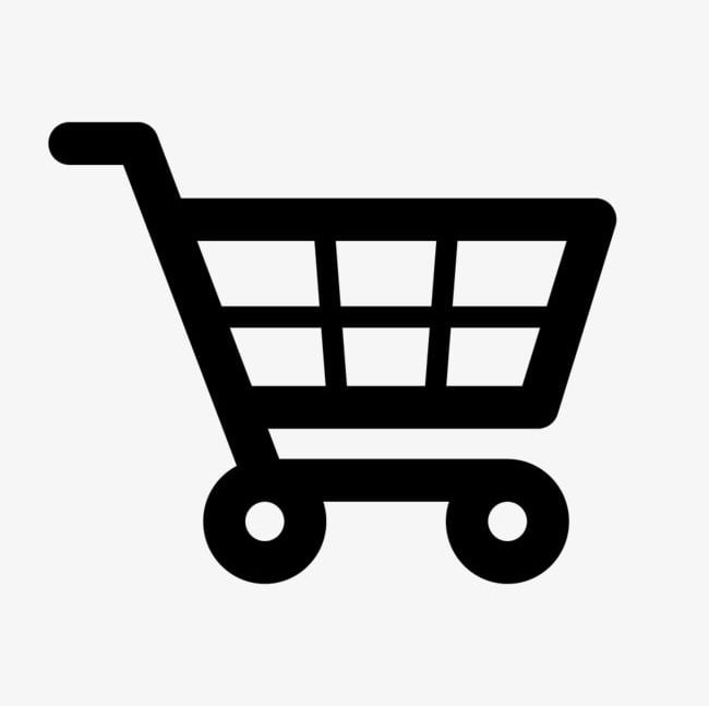 Black Shopping Cart Icon For Free PNG, Clipart, Black, Black.