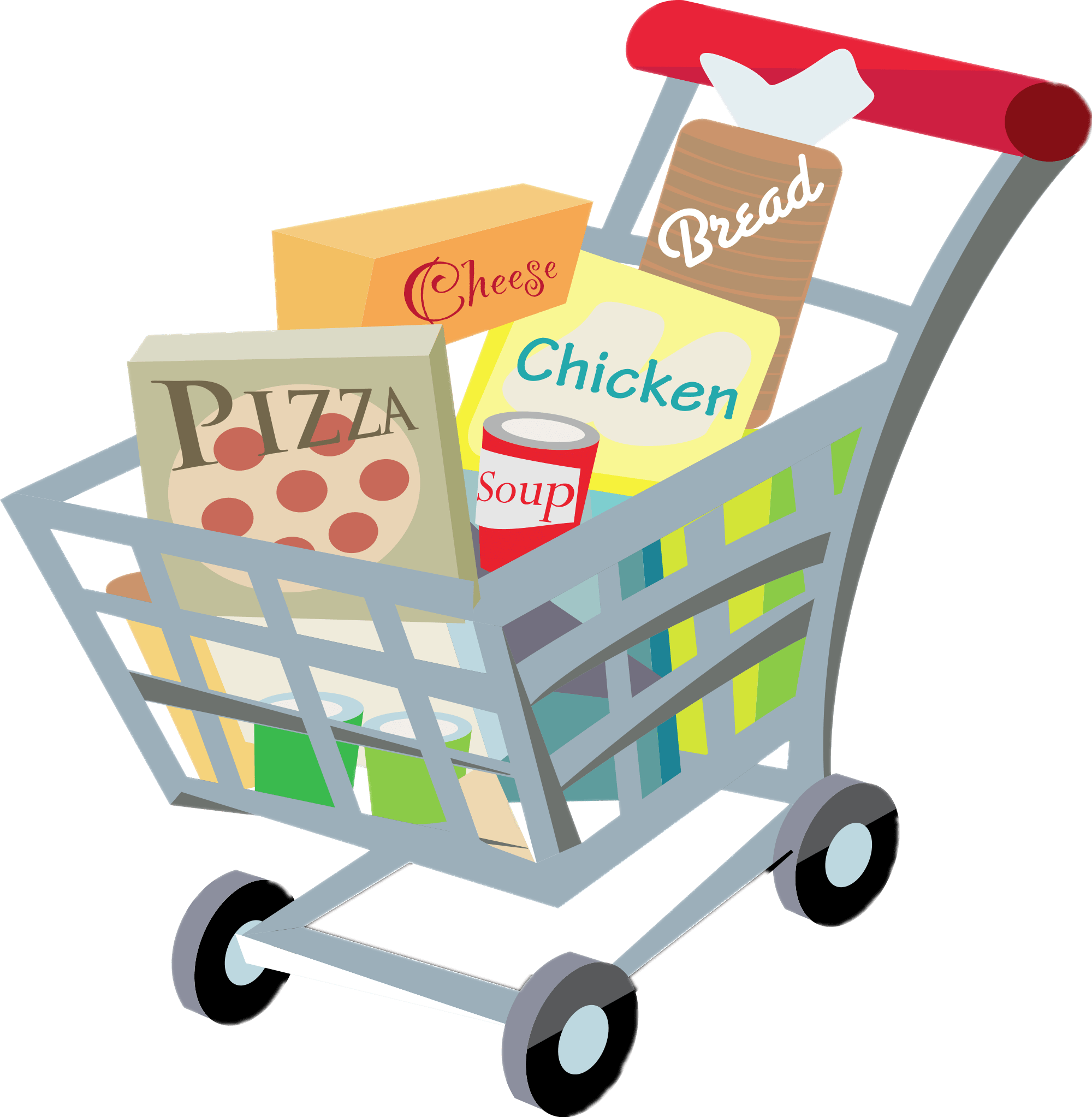 Shopping Cart Clipart transparent PNG.