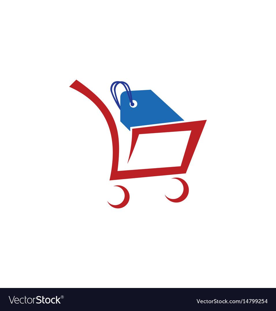 Shopping cart sale logo.