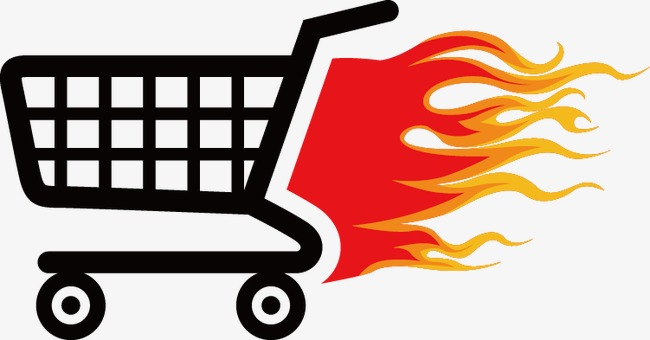Flame Shopping Cart Icon, Shopping Cart, #5889.