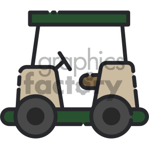 golf cart vector art . Royalty.