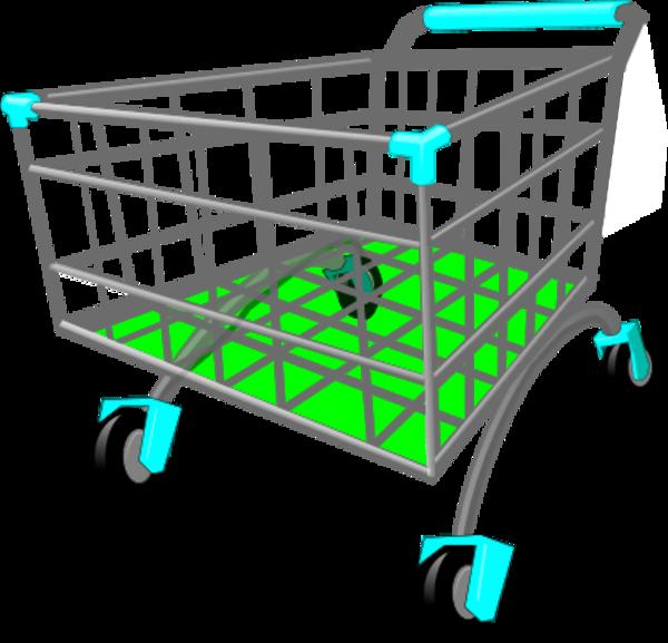 Grocery cart clip art.