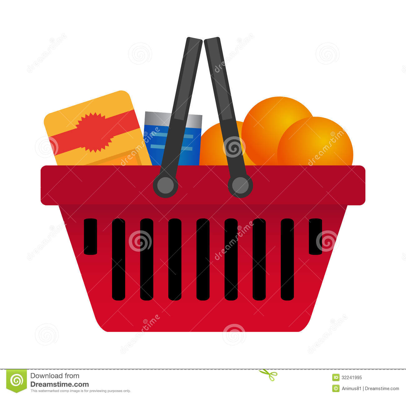 Shopping Cart Royalty Free Stock Photo.