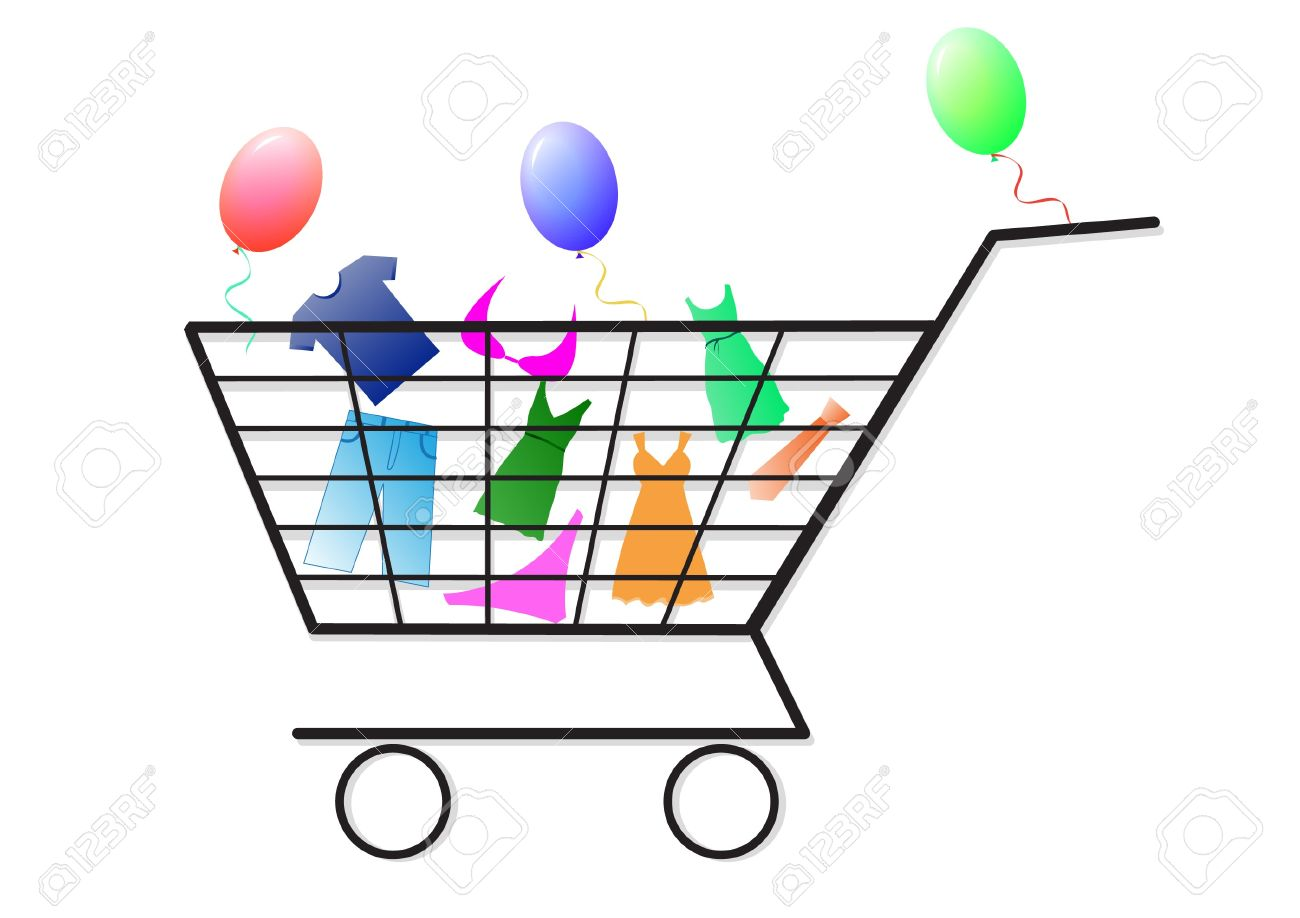 Shopping Cart With Goods Icon Royalty Free Cliparts, Vectors, And.
