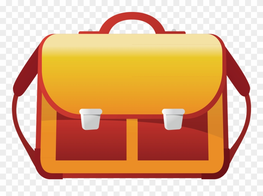 Png Free Stock Briefcase Clipart Orange.