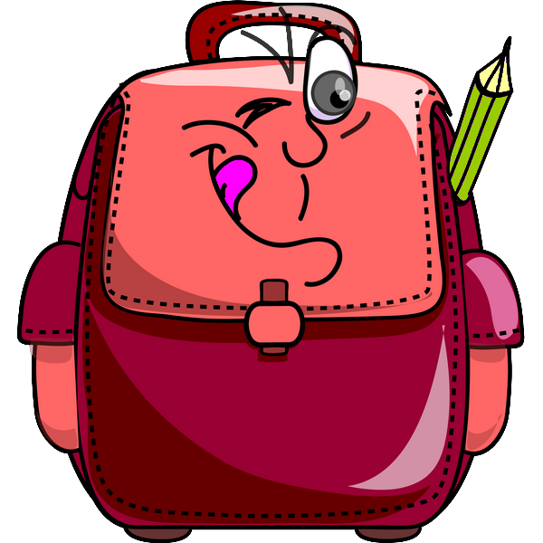 Clipart backpack cartable, Clipart backpack cartable.