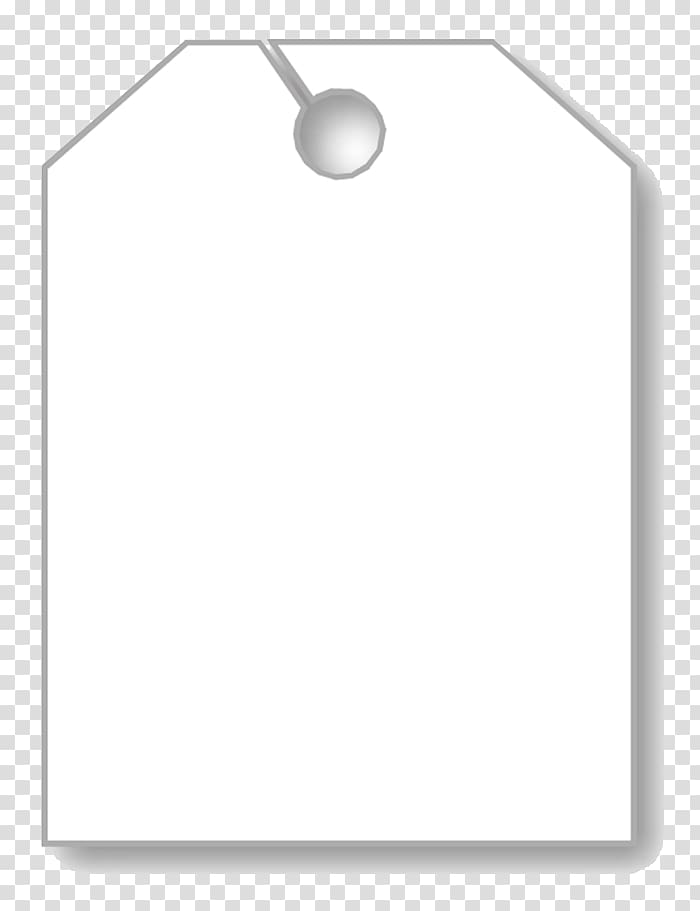 Paper Car White Swing tag Mirror, Blank Tag transparent.
