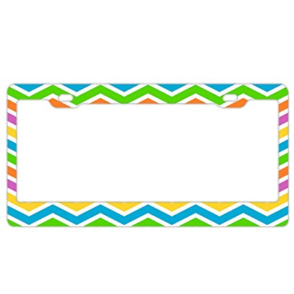Amazon.com: YEX Abstract Stripes Clipart License Plate Frame.