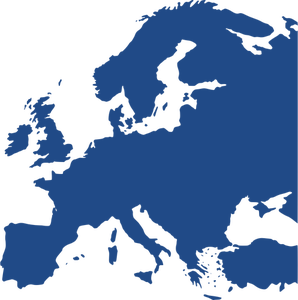 1806 free europe vector map.