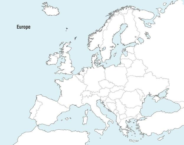 Vector Maps of Europe.