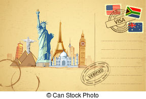 522 Postcard free clipart.