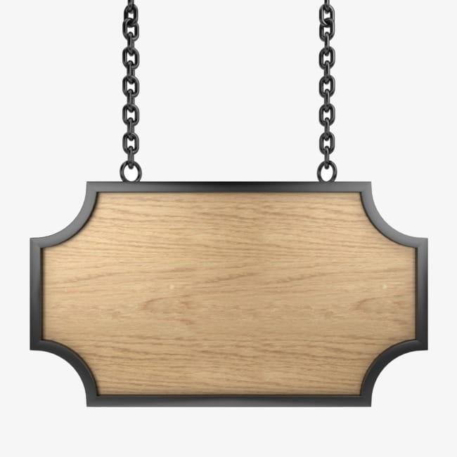 Carteles de madera PNG Clipart.