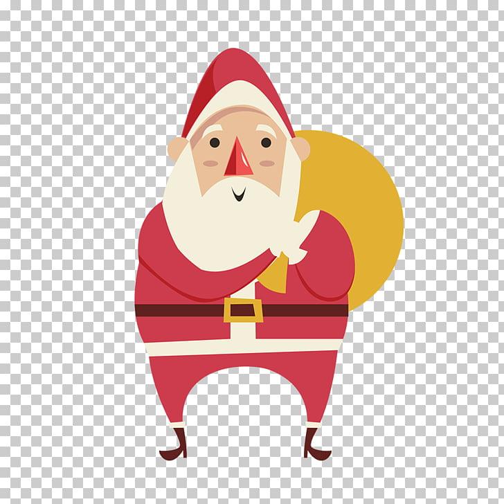 Cartel de regalo de música de Navidad de santa claus.