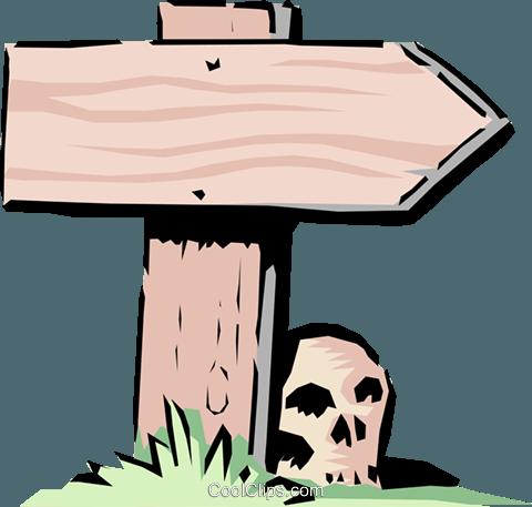 Cartoon road sign Royalty Free Vector Clip Art illustration.