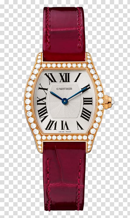 Watch Diamond cut Brilliant Movement, Red watches Cartier.