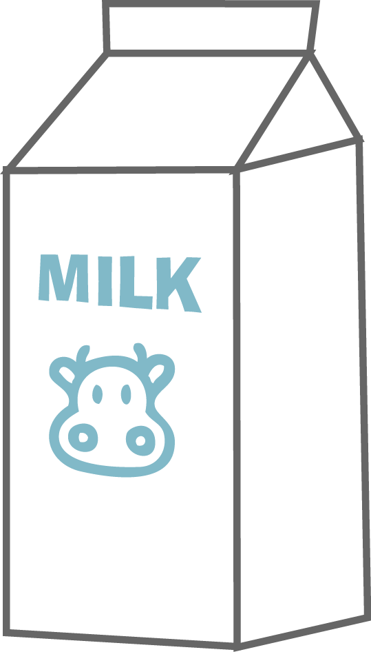 Milk Carton Clipart Black And White.