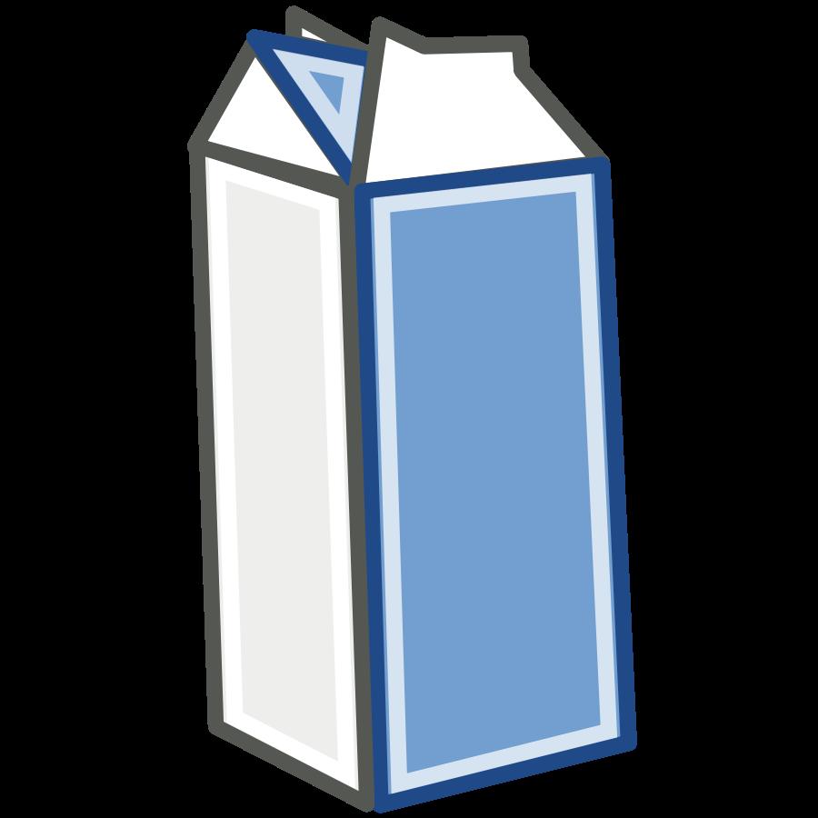 Milk Carton Clipart Black And White.