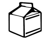 Milk Carton Black And White Clipart.
