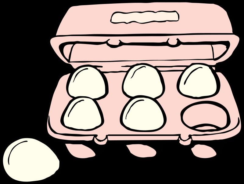 Free Clipart: Carton of eggs.
