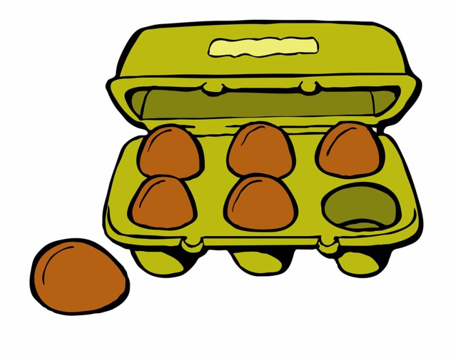 Eggs Carton Gold Brown Food Breakfast Box Shells.