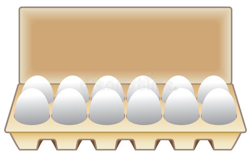 Carton Eggs Stock Illustrations.
