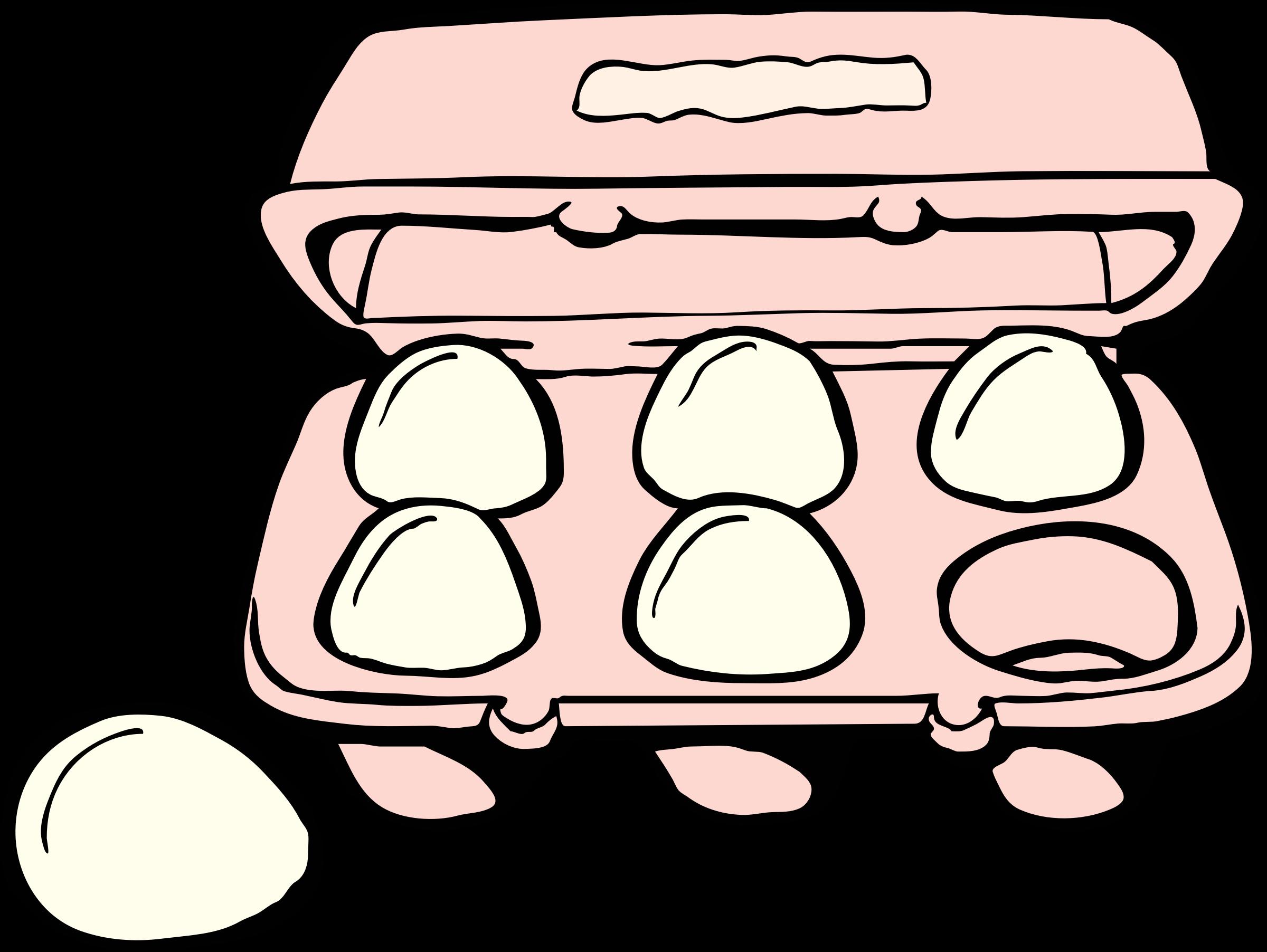 Carton of Eggs vector clipart image.