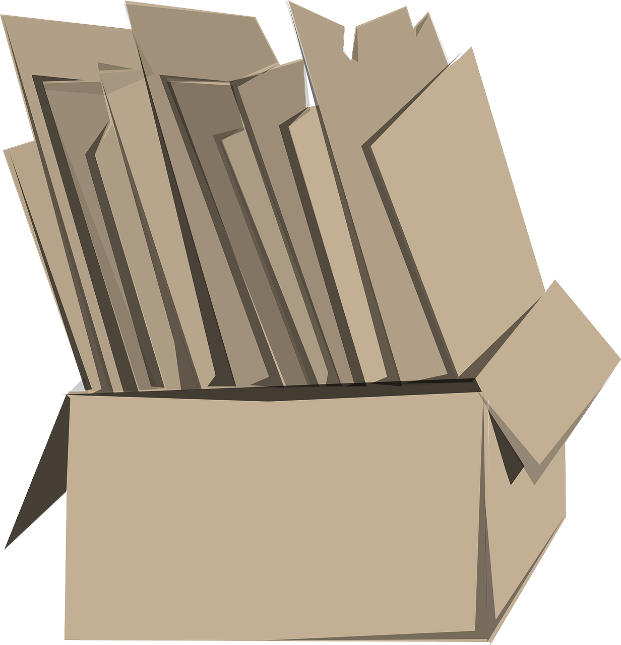 Box Cardboard Files Carton PNG.