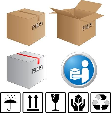 Carton Clip Art, Vector Carton.