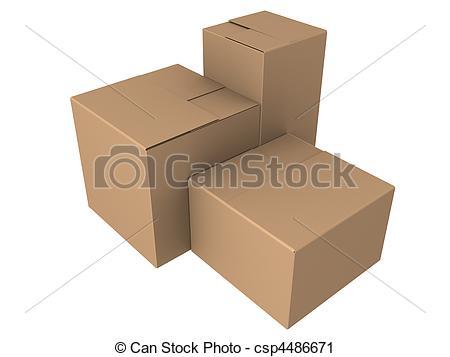 Clipart of 3d cartons.
