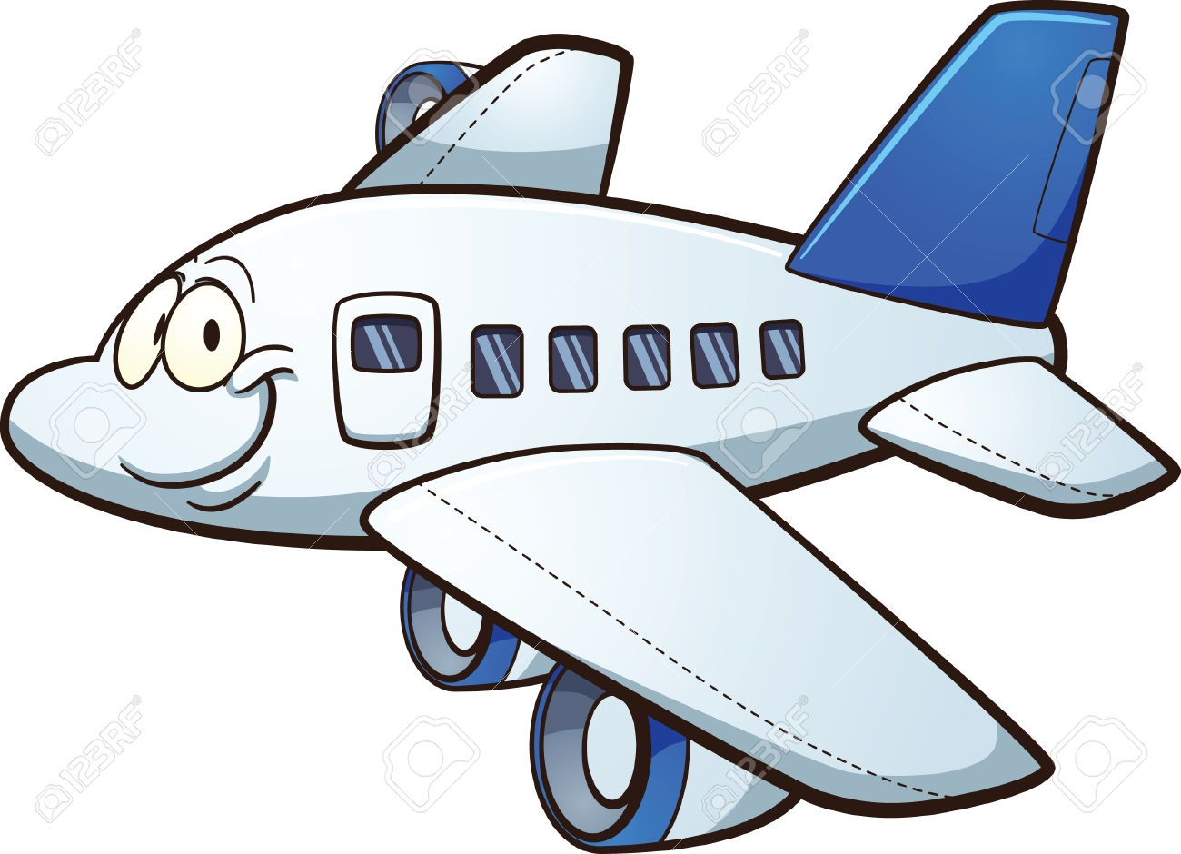 Airplane Clipart With Banner Clip art of Airplane Clipart #644.