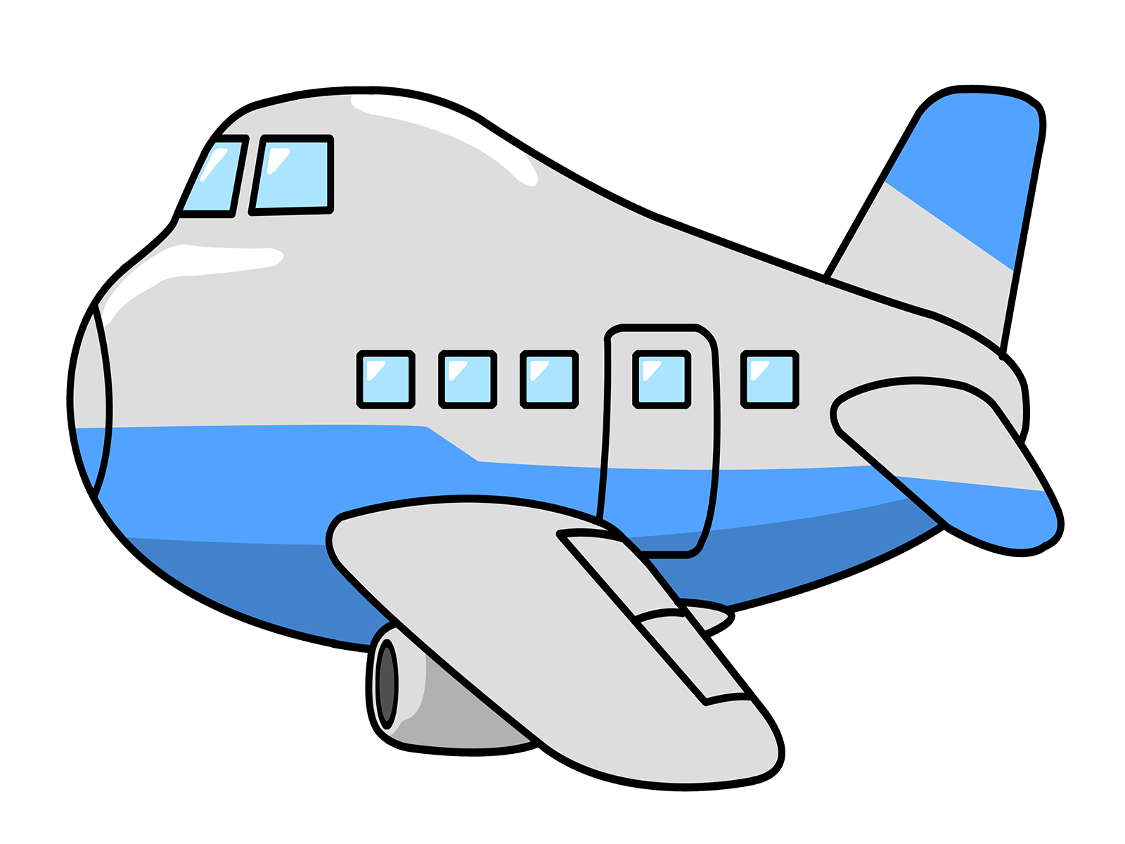 Airplane Cartoon Clip Art Free.