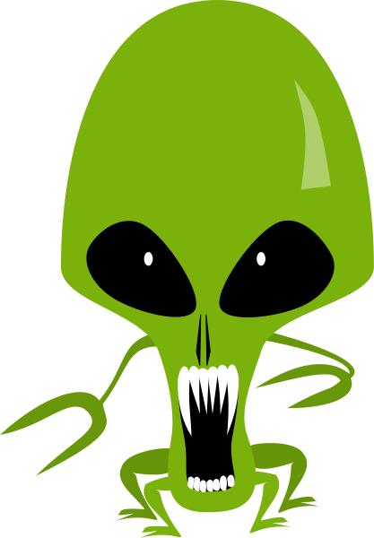 alien scary teeth.