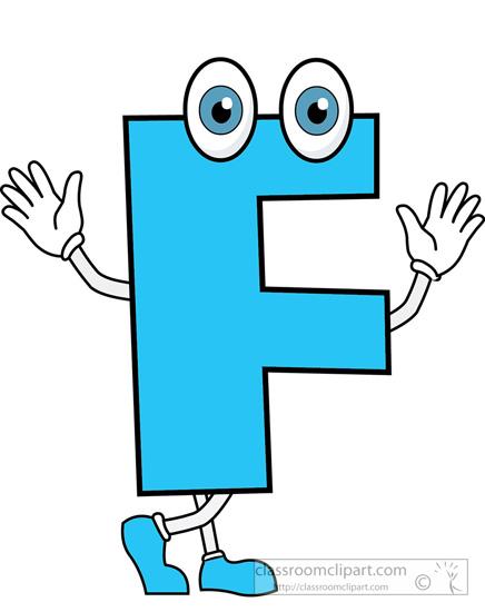 Letter F cartoon alphabet » Clipart Station.