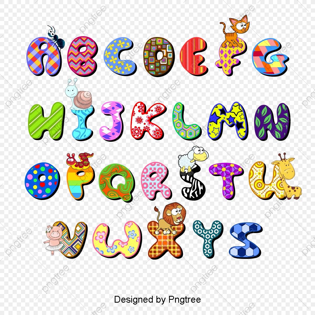 Cartoon Alphabet Vector Material, Alphabet Clipart, Ant, Spider PNG.
