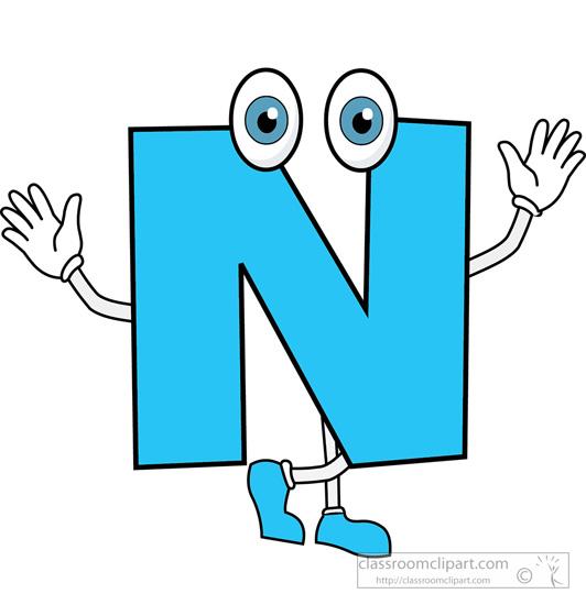 Letter N cartoon alphabet » Clipart Station.