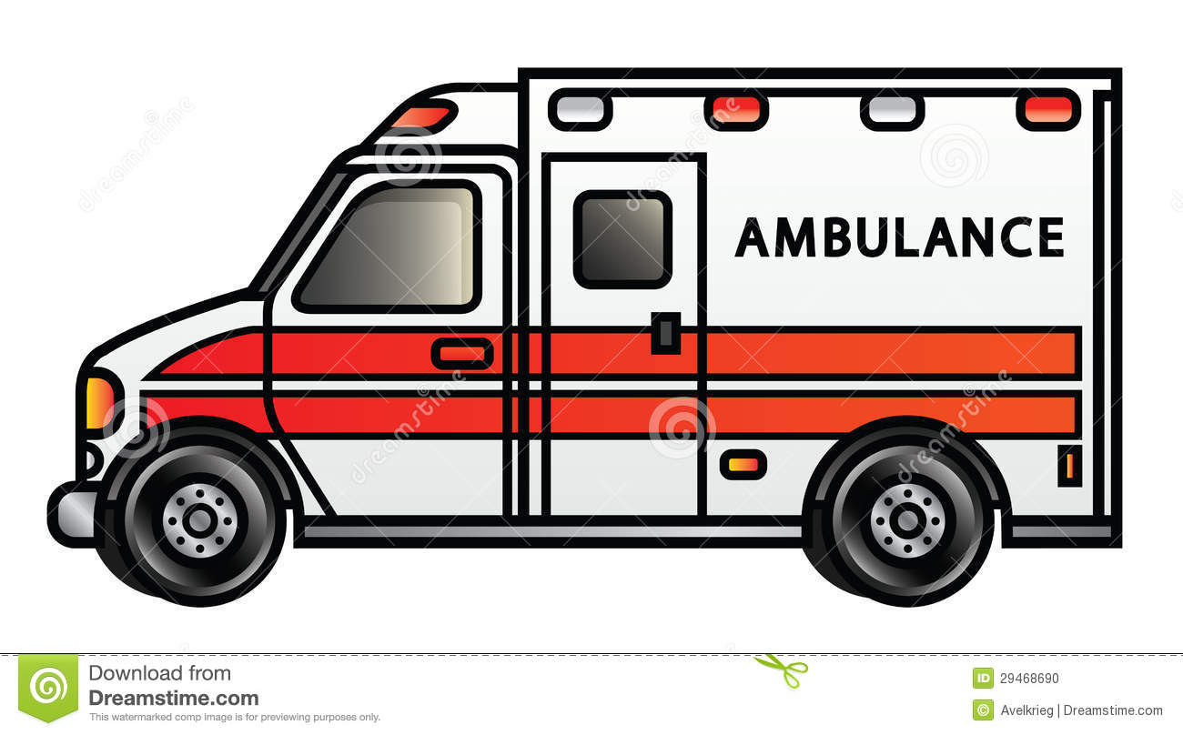 Ambulance stock vector. Illustration of accident, cartoon.