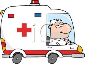 Ambulance Cartoon Clipart.