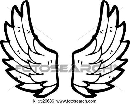 Cartoon angel wings Clip Art.