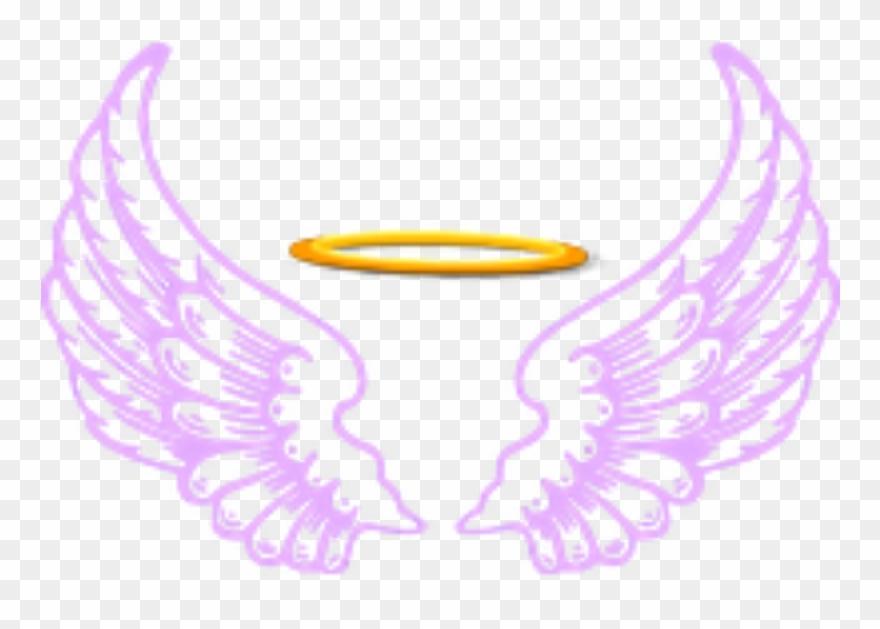 Ftestickers Fantasyart Angel Wings Halo Purple.