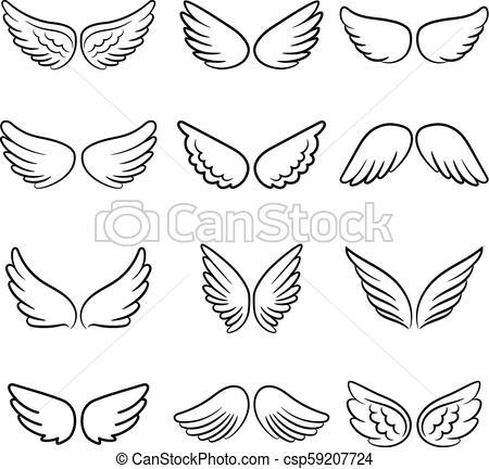 Cute angel wings set.