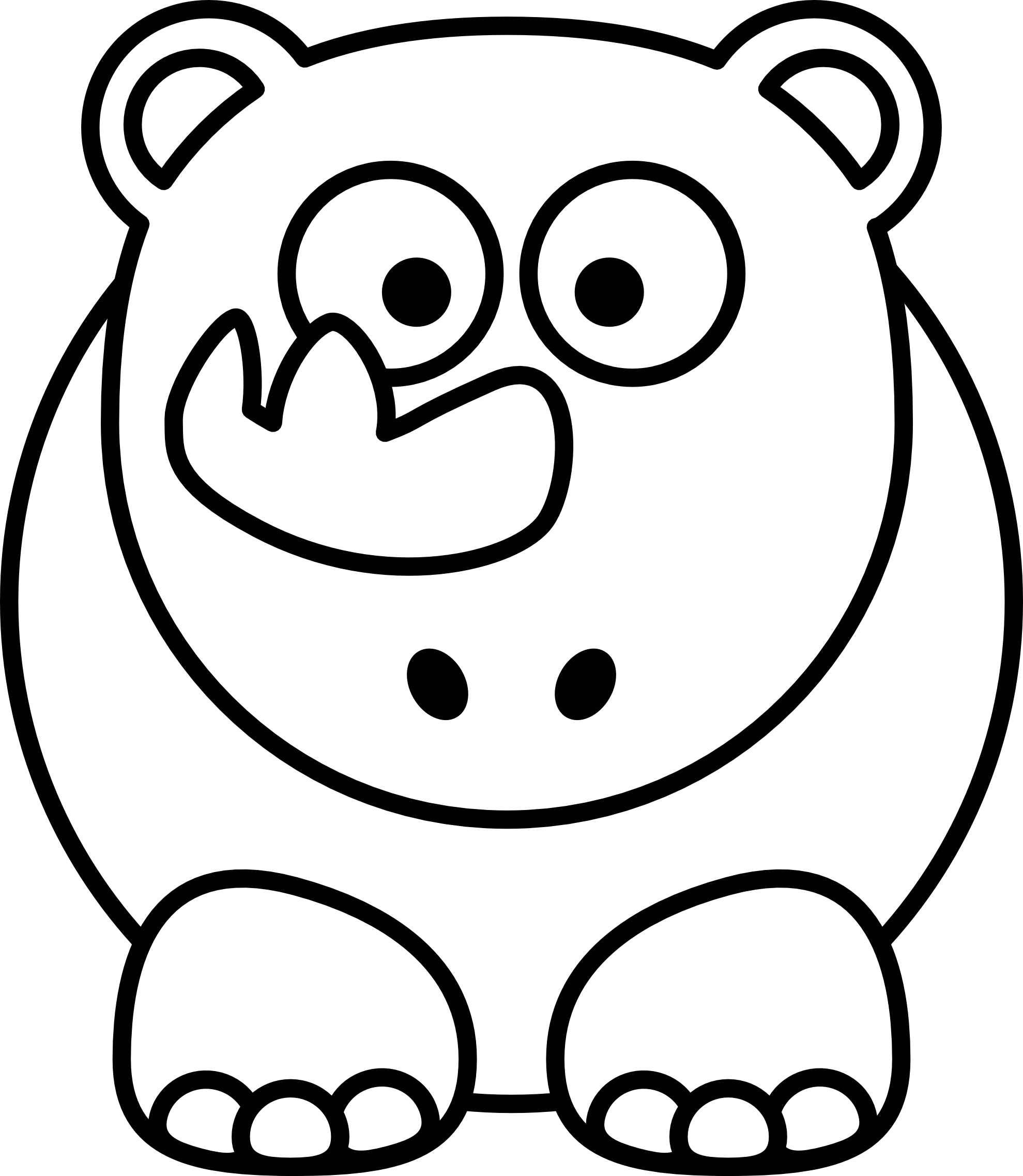 Free Black And White Cartoon Animals, Download Free Clip Art.
