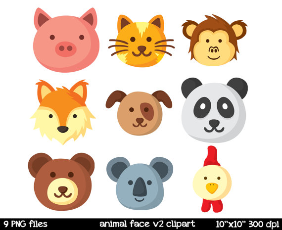 Free Animal Faces Cliparts, Download Free Clip Art, Free.
