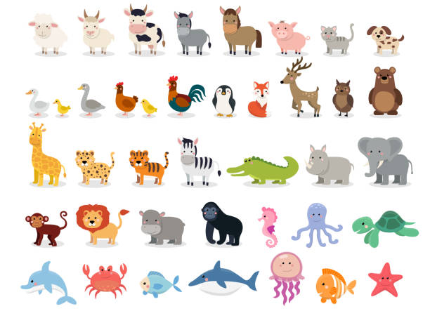 Best Cartoon Animals Illustrations, Royalty.