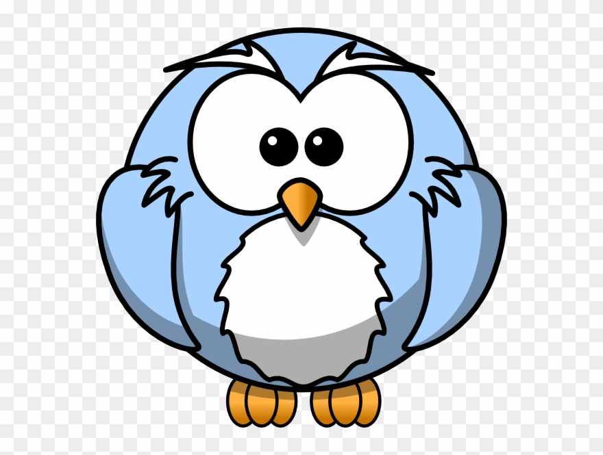 Blue Cartoon Owl Clip Art.