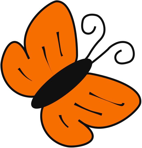 butterfly clip art orange.