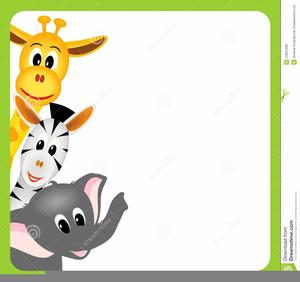 Cartoon Safari Animals Clipart.